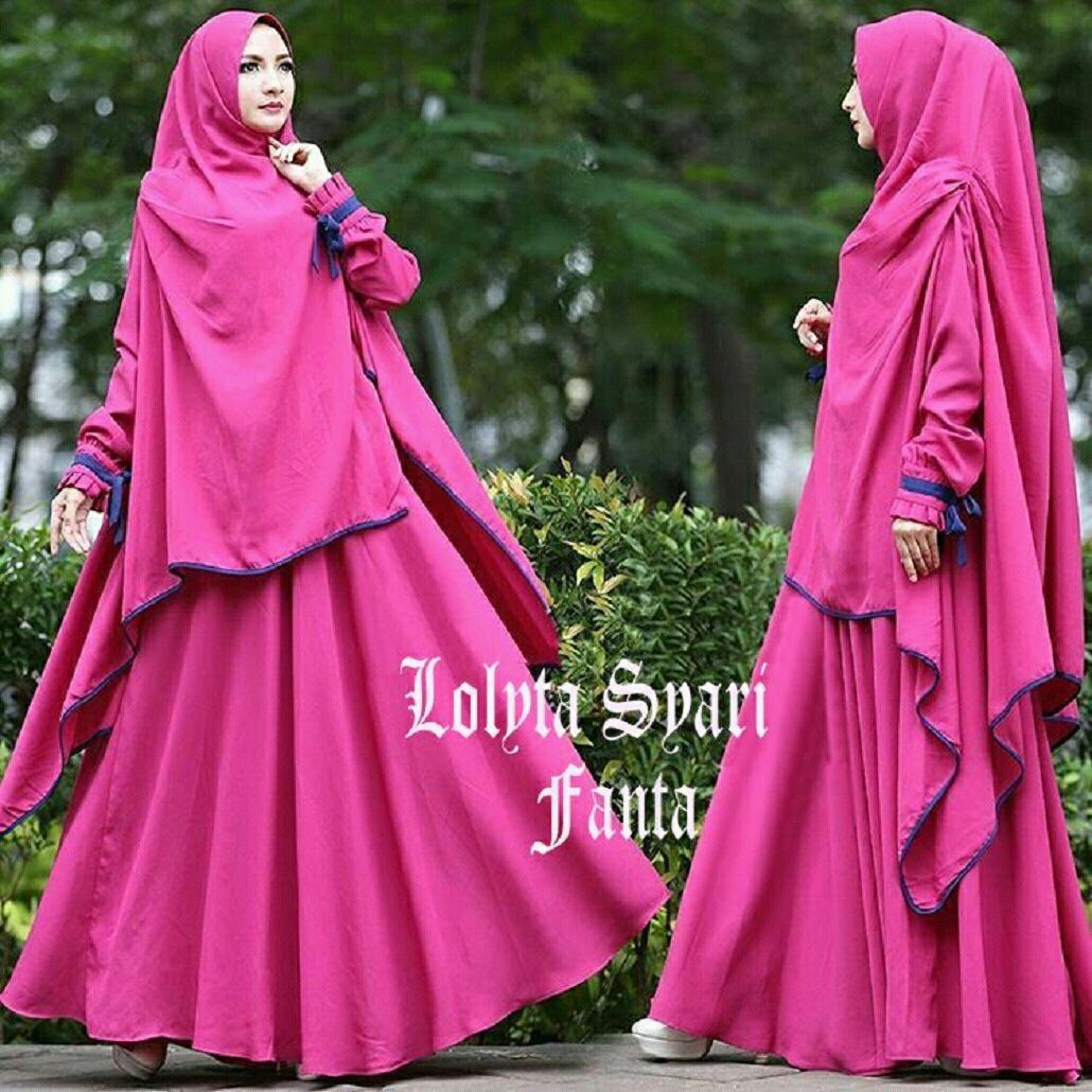 Kombinasi Jaket Denim dalam Model Baju Muslim Terbaru 2018